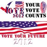 Emblemas da eleição 2012 Foto de Stock Royalty Free