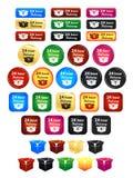 24 emblemas da entrega da hora Imagem de Stock