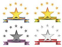 Emblemas da estrela ilustração stock