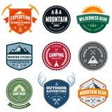 Emblemas da montanha Fotos de Stock