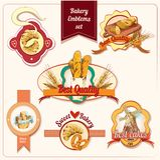 Emblemas da padaria ajustados Foto de Stock