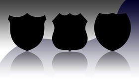 Emblemas da polícia Fotografia de Stock