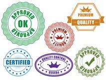 Emblemas da qualidade Foto de Stock Royalty Free