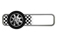 Emblemas da raça com pneumático Imagens de Stock Royalty Free