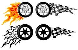 Emblemas da raça dos esportes Foto de Stock Royalty Free