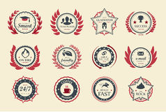 Emblemas da realização Foto de Stock