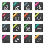Emblemas da tecla do Web Foto de Stock Royalty Free
