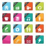 Emblemas da tecla do Web Imagem de Stock Royalty Free