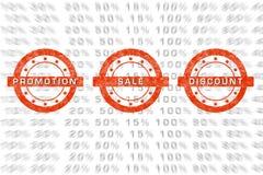 Emblemas da venda Imagens de Stock