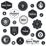 Emblemas da viagem espacial Fotos de Stock