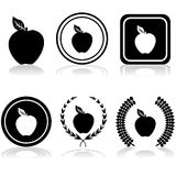 Emblemas de Apple Fotografia de Stock Royalty Free