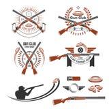 Emblemas de la blanco de la arcilla y elementos del diseño Imagen de archivo libre de regalías