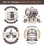 Emblemas de la cervecería del vintage Foto de archivo libre de regalías