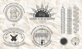 Emblemas de la cerveza, etiquetas, insignias Imagenes de archivo