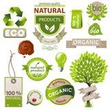 Emblemas de la ecología y de la naturaleza Imagenes de archivo