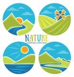 Emblemas de la naturaleza stock de ilustración