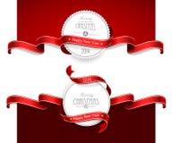 Emblemas de la Navidad Imágenes de archivo libres de regalías