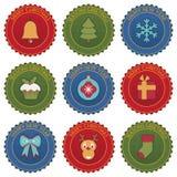 Emblemas de la Navidad Imagenes de archivo