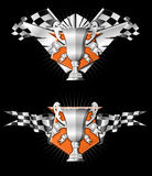 Emblemas de la raza de los deportes Imagenes de archivo