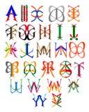 Emblemas de letras Fotos de archivo libres de regalías