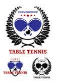 Emblemas de los tenis de mesa Imagen de archivo