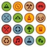Emblemas de mérito Imagens de Stock