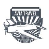 Emblemas del aeroplano del vintage Fotografía de archivo libre de regalías