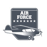 Emblemas del aeroplano del vintage Imagen de archivo libre de regalías