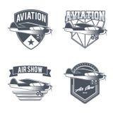 Emblemas del aeroplano del vintage Imagen de archivo