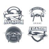 Emblemas del aeroplano del vintage Fotos de archivo