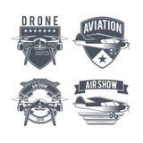 Emblemas del aeroplano del vintage Fotos de archivo libres de regalías
