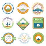 Emblemas del algodón Foto de archivo libre de regalías