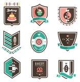 Emblemas del alimento Foto de archivo libre de regalías