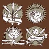 Emblemas del béisbol del bosquejo Fotografía de archivo libre de regalías