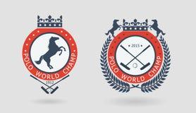 Emblemas del campeonato del polo Fotografía de archivo libre de regalías