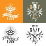 Emblemas del club de la lucha callejera Imágenes de archivo libres de regalías