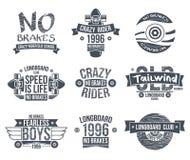 Emblemas del club de Longboard Fotografía de archivo libre de regalías