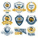 Emblemas del club del voleibol stock de ilustración