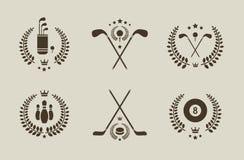 Emblemas del deporte Imagen de archivo libre de regalías