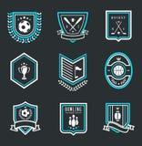 Emblemas del deporte Fotografía de archivo