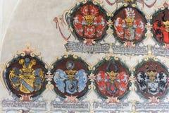 Emblemas del escudo de armas Imágenes de archivo libres de regalías