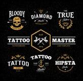 Emblemas del estudio del tatuaje Imagenes de archivo