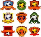 Emblemas del fútbol Imagenes de archivo