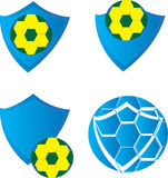 Emblemas del fútbol Foto de archivo libre de regalías