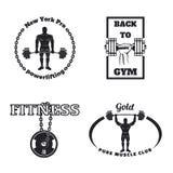 Emblemas del gimnasio de la aptitud Fotografía de archivo