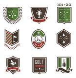 Emblemas del golf Fotos de archivo