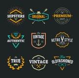 Emblemas del inconformista del vector Fotografía de archivo