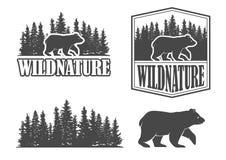 Emblemas del oso ilustración del vector
