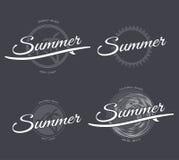 Emblemas del verano fijados Imagenes de archivo