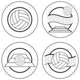 Emblemas del voleibol Ilustración del Vector